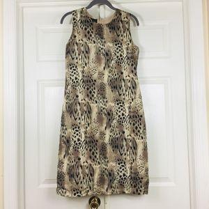 Animal print sleeveless dress silk vintage Stunt